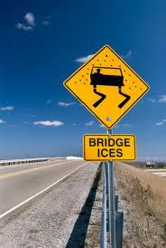 bridge may be icy