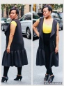 Black Neoprene Dropwaist Coat Dress By J. Tracey