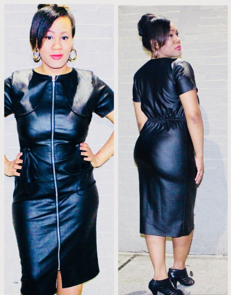 Faux Leather Dress by J. Tracey